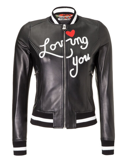 Leather Bomber LittleBill