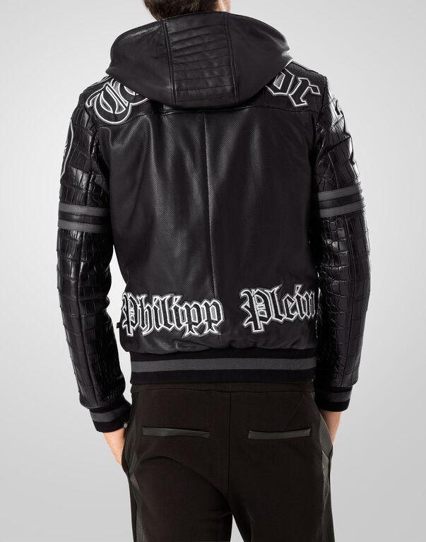 """bomber hoodie """"stronger"""""""