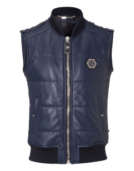"leather vest ""elk"""