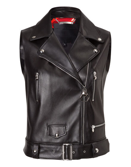 "Leather short Vest ""sleeveless"""