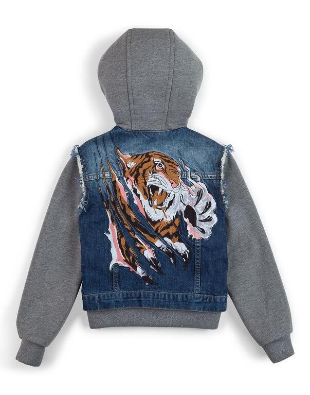"Denim jacket ""Feline"""