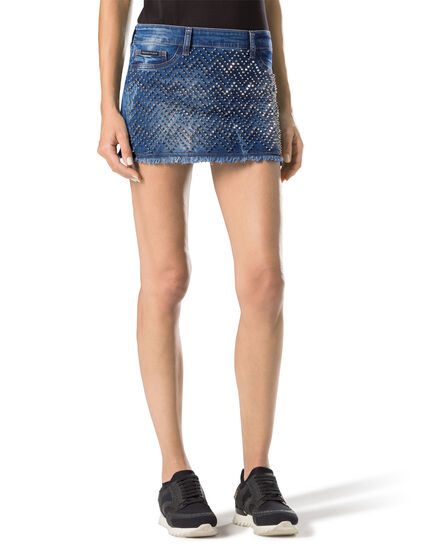"Denim Skirt ""Actinidia"""