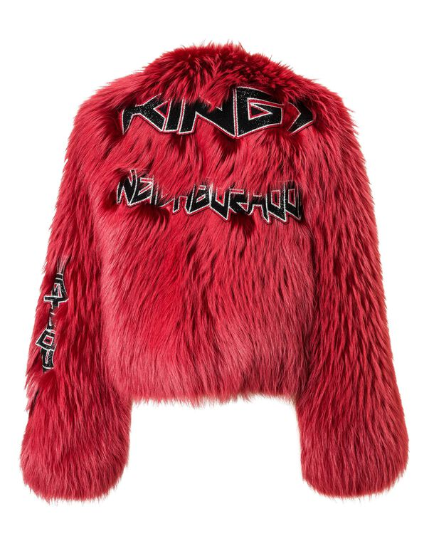 "PHILIPP PLEIN Fur Jacket ""By The True"""