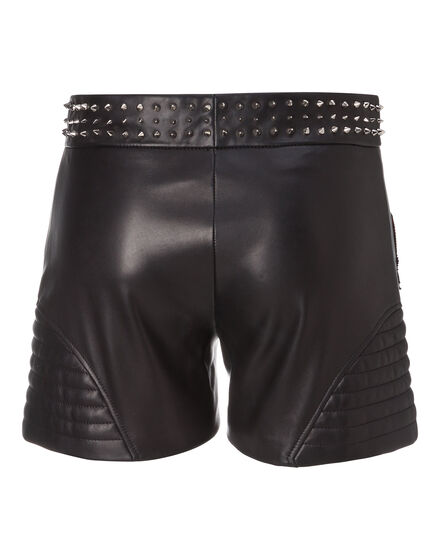 "Leather Shorts ""Roses Plein"""