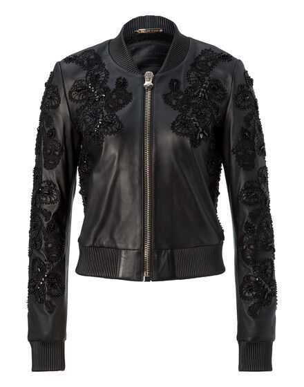leather bomber beloved