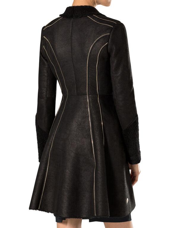 """leather coat """"wintery"""""""