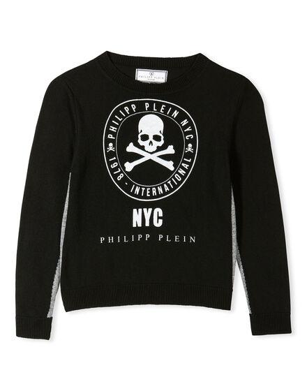 Pullover Round Neck LS Noble Skull