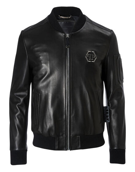 Leather Bomber Draw