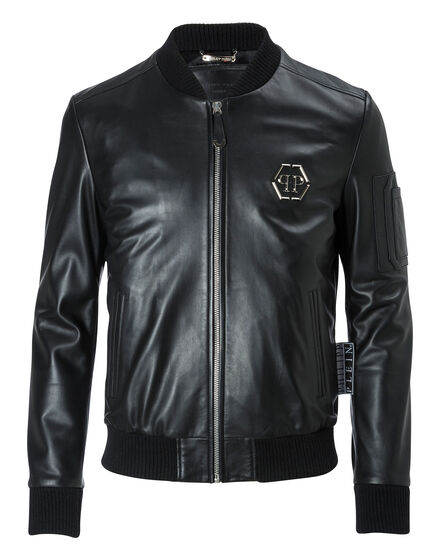 Leather Bomber Tatoo