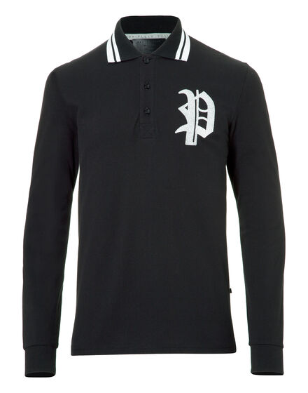 Polo shirt LS Ushi-oni