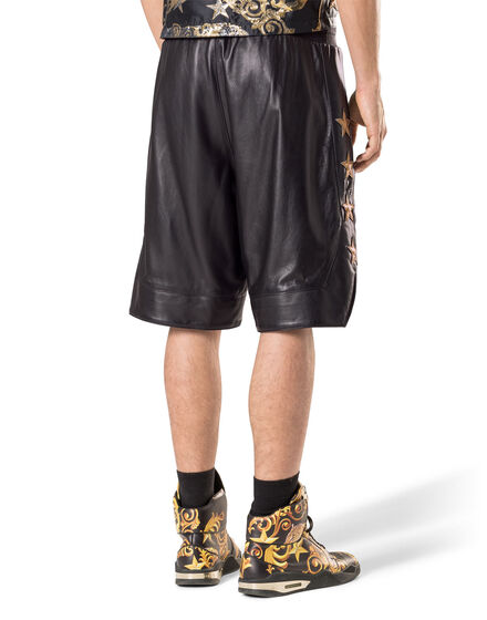"Leather Shorts ""Gold stars"""