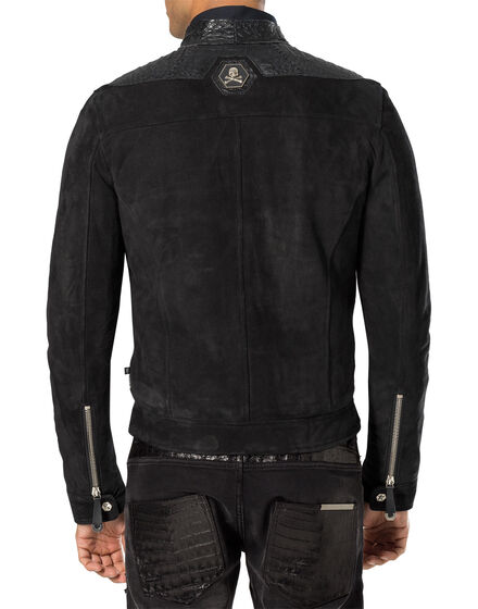 "leather jacket ""river"""