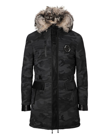 Leather Parka Fur