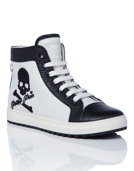 "Hi-Top Sneakers ""Owl"""