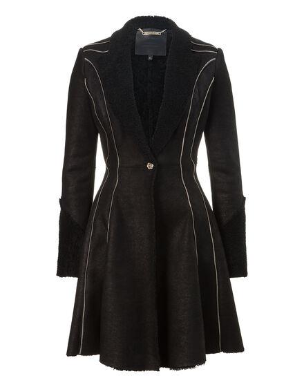 leather coat wintery