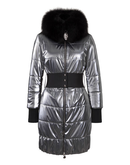 Long Down Jacket Ohne