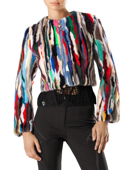 "Fur Jacket ""rainbow"""