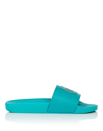 """Flat gummy sandals """"Croisette"""""""