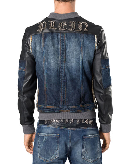 "Leather Bomber ""Waste"""