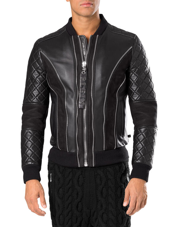 "leather jacket ""valley"""
