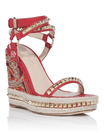 "Sandals Wedges ""Rouge"""