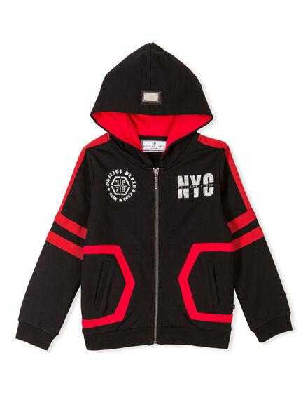 Hoodie Sweatjacket Red Registration