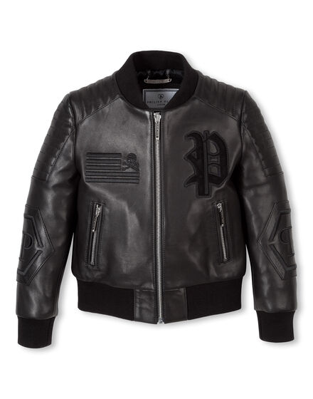 "Leather Bomber ""Black River"""