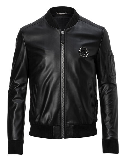 Leather Bomber Double
