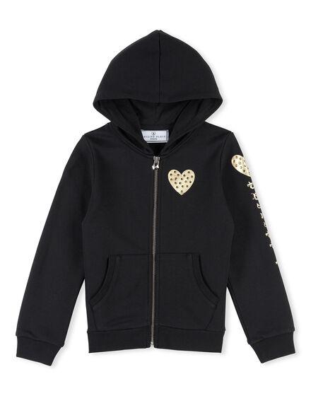Hoodie Sweatjacket Celadon