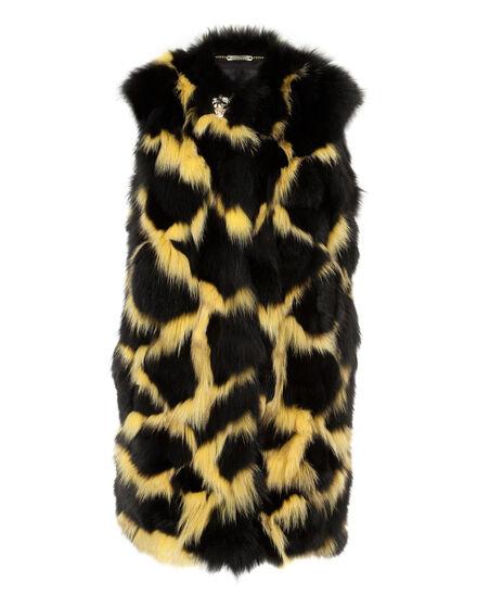 """Fur Vest Long """"Aquilla"""""""