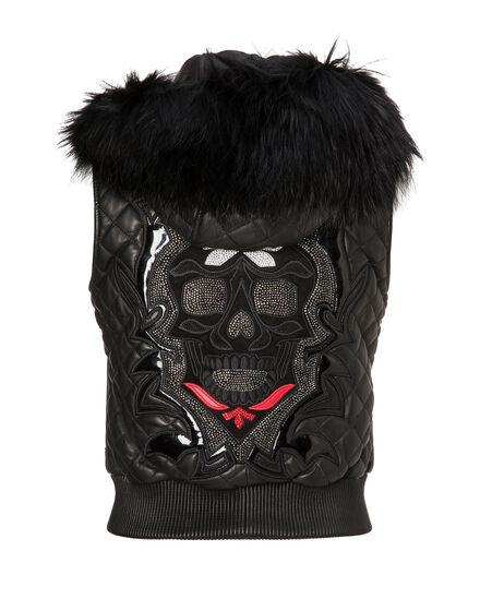 "Leather Vest Short ""Bernard"""