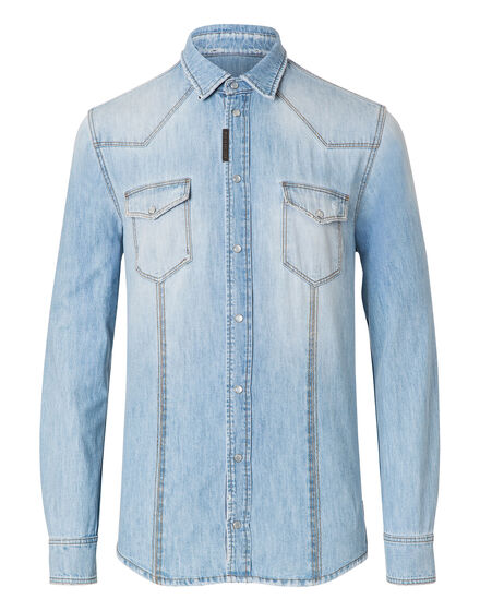 "Denim Shirt Ls ""So wet"""