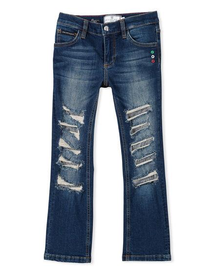 Denim Trousers Silver King