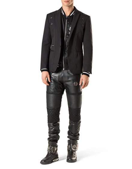 "Leather Trousers Long ""Stop"""