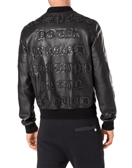 "Leather Bomber ""Match"""