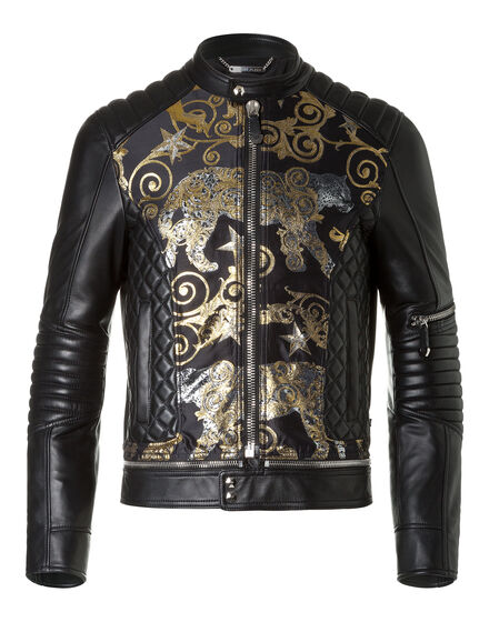 Leather Bomber Platinum