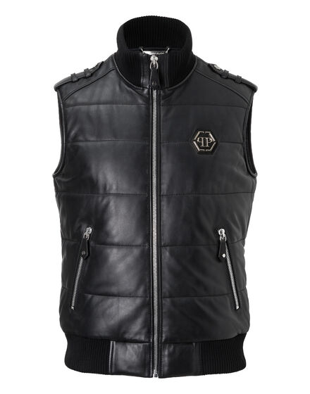 Leather Vest Short Warrior
