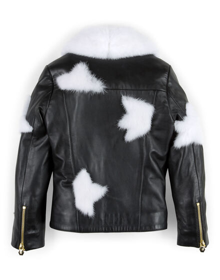 "leather jacket ""white fur"""