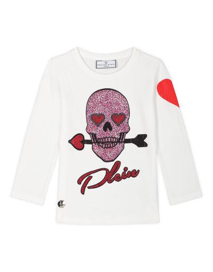T-shirt Round Neck LS Honey White
