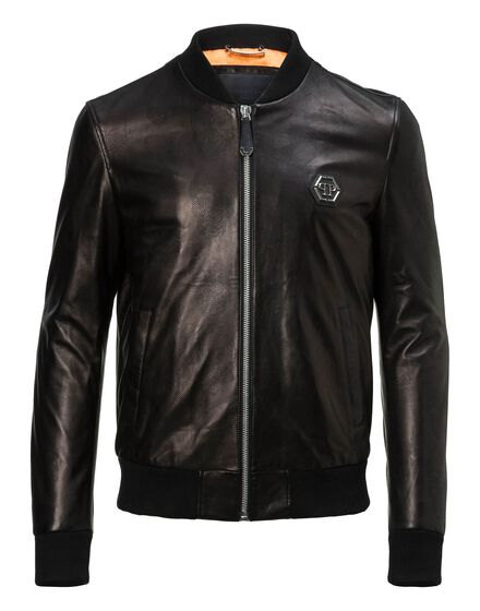 Leather Bomber Ocean eyes