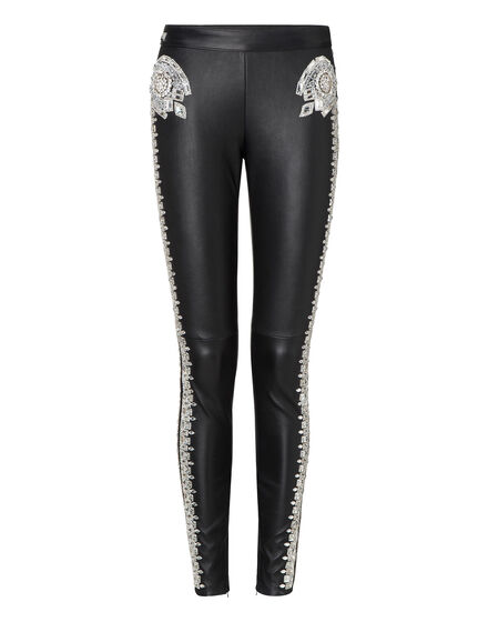 "leather trousers ""love forever"""