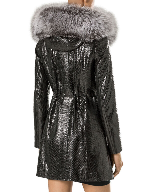 """leather parka """"the queen"""""""