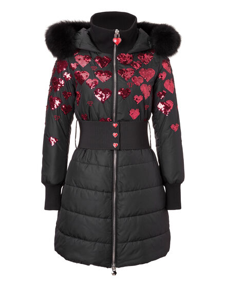 Long Down Jacket Fuur