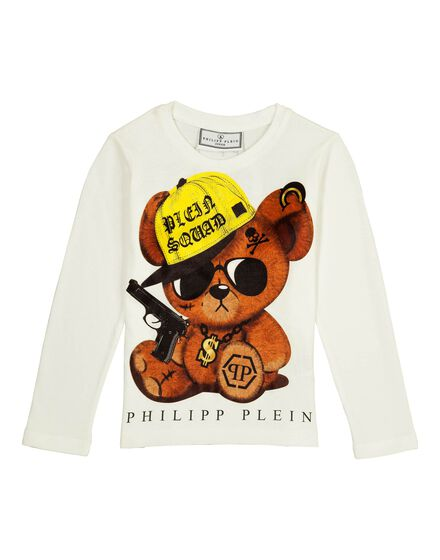 T-shirt Round Neck LS Bling Teddy