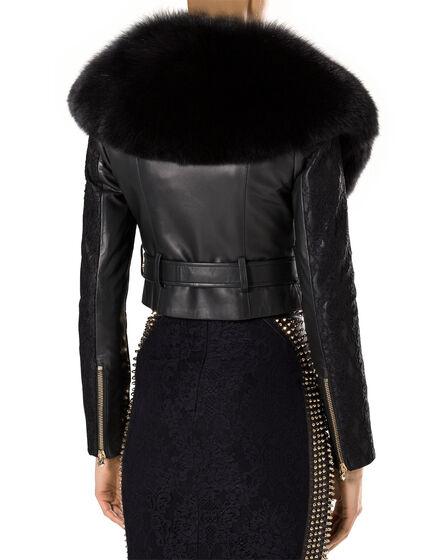 """leather jacket """"syberia"""""""