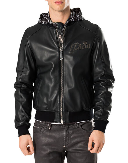 "Leather Bomber ""Wild Tiger"""