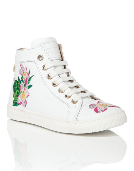 "Hi-Top Sneakers ""Cleome"""
