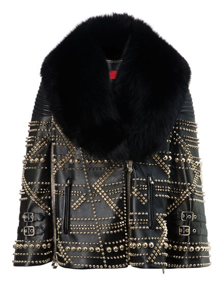 leather coat shadow