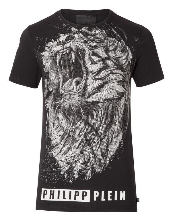 "T-shirt Round Neck SS ""Black lion"""