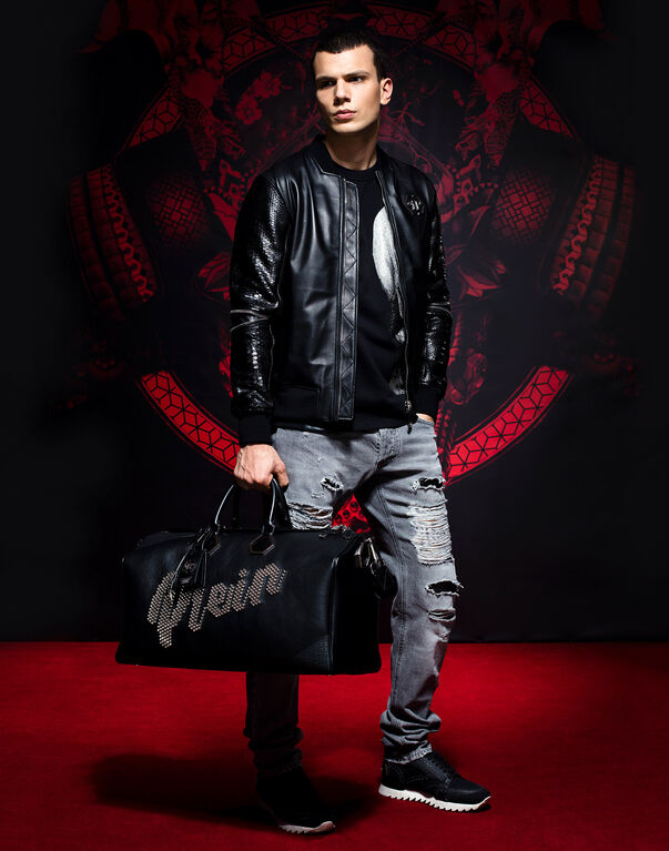 "Leather Bomber ""Tian"""